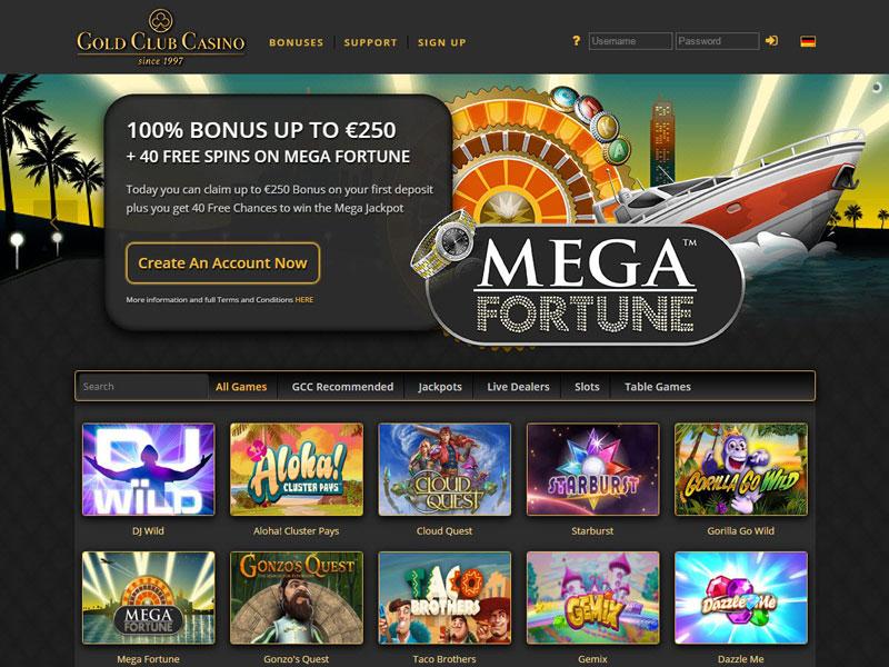 Club Gold Casino 20 Free Code