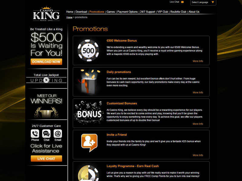 New Uk Casino King Bonus