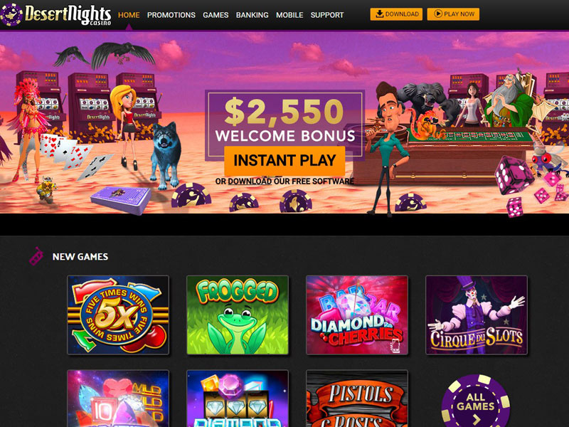 Desert Nights Casino Instant Play