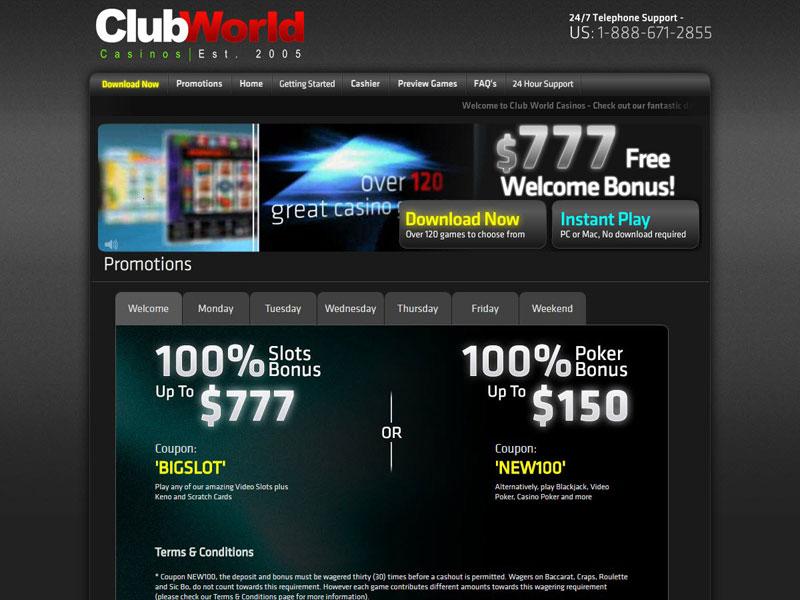 Club World Casino Mac