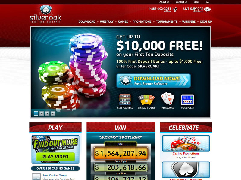 Silver Oak Casino Mobile Login
