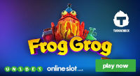 A new online slot Frog Grog is available at Unibet Casino