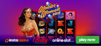 A Wonder Woman Gold online slot is available at InstaCasino