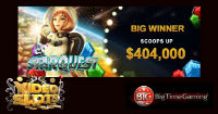 A lucky casino player won $404000 by playing an online slot Starquest