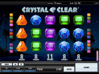 A new gaming machine Crystal Clear is now available at InterCasino