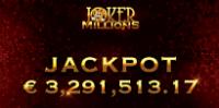A lucky player won a progressive jackpot on Joker Millions online slot
