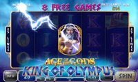 A slot machine Age of the Gods: King of Olympus offered a million-dollar hit